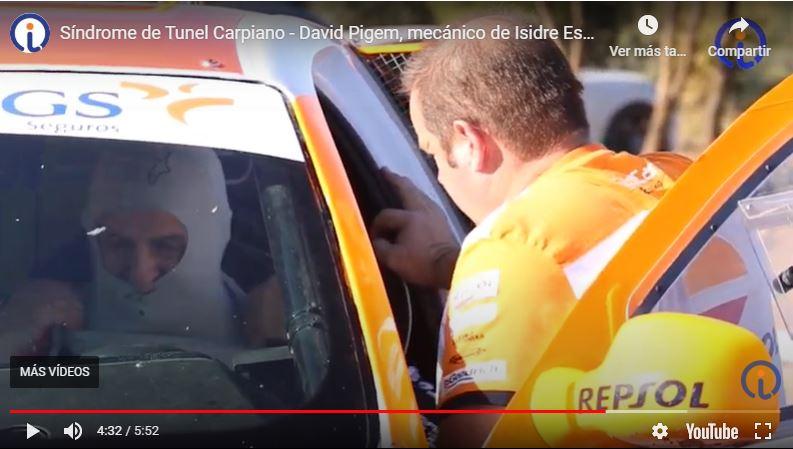 Síndrome de Túnel Carpiano – el caso de David Pigem, mecánico de Isidre Esteve en el equipo Repsol – Dakar